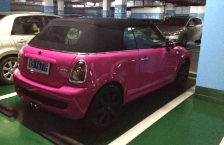 Mini Cabrio is very Pink in China