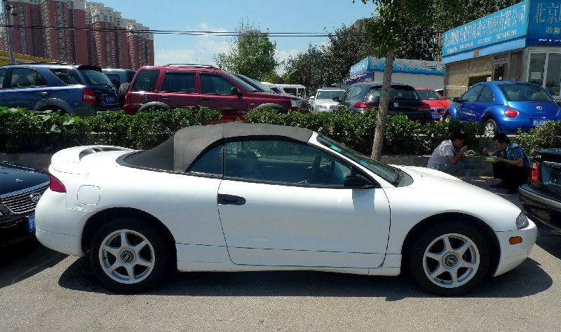 spotted in china mitsubishi eclipse gs spyder