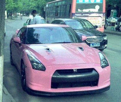 Nissan GT-R in Pink in China
