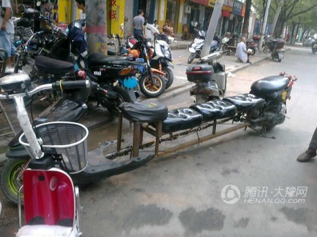 Five-seat scooter limousine from China