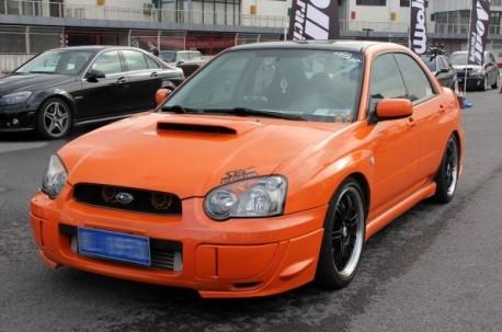 Subaru Impreza WRX STi is very Orange in China