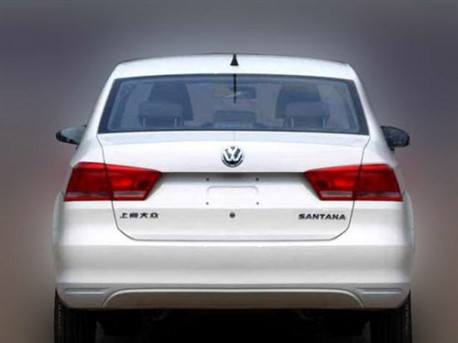 new Volkswagen Santana shows its Ass in China
