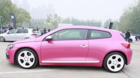 Volkswagen Scirocco in Pink in China