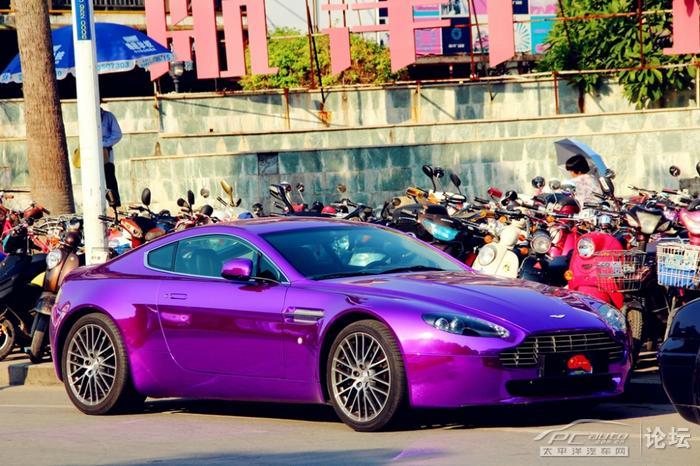 Aston Martin V8 Vantage Is Shiny Purple In China Carnewschina Com