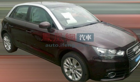 five-door Audi A1 testing in China