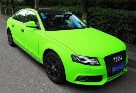Audi A4l Is Shiny Lime Green In China Carnewschina Com