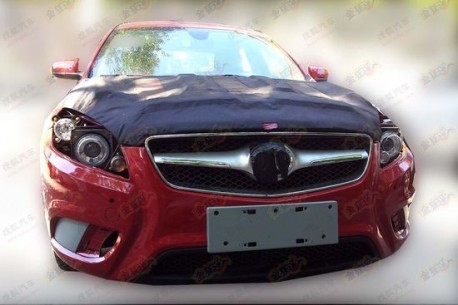 Spy Shots: Beijing Auto C50E in Red
