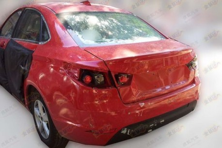 Spy Shots: Beijing Auto C50E in Red