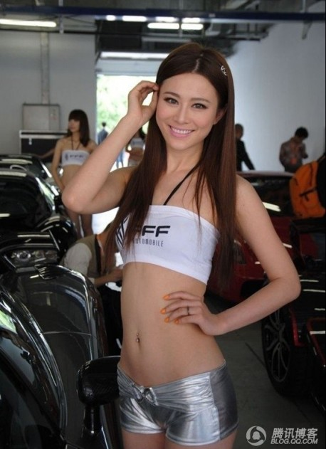 Super Cars with Sweet Chinese Girls