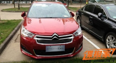 Citroen C4L completely naked in China