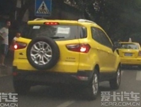 Spy Shots: Ford Ecosport in Yellow in China