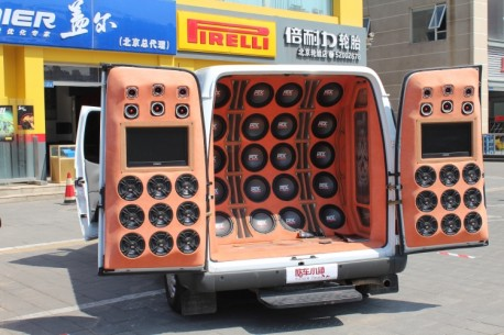 A Ford Transit is a Sound System in China