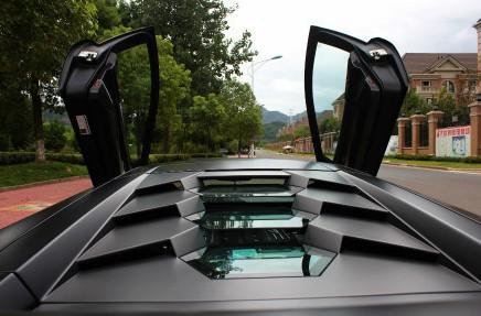 Lamborghini Murcielago SV is matte black in China
