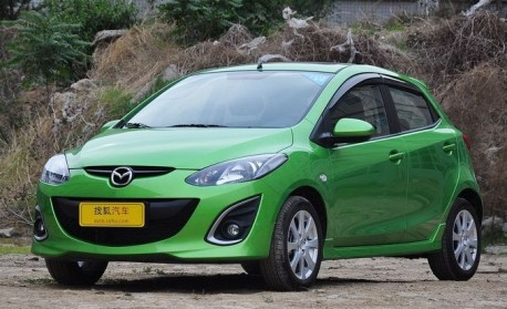 Facelifted Mazda 2 hits the China auto market