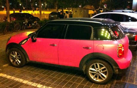 Mini Countryman is Pink in China