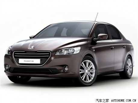 Peugeot 301 testing in China
