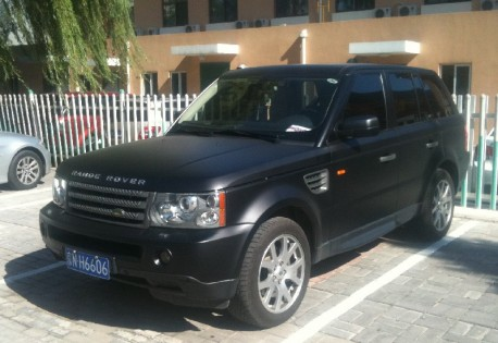 Range Rover Sport is Matte Black in China