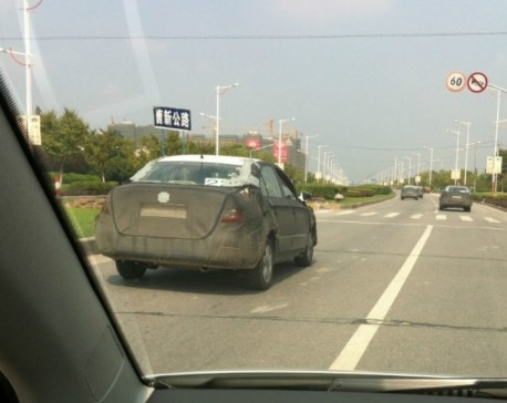 Spy Shots: Skoda Rapid testing in China