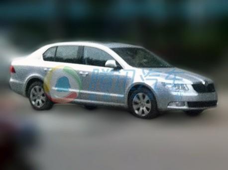 Spy Shots: Skoda Superb Greenline testing in China