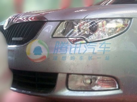 Spy Shots: Skoda Superb Greenline testing in China