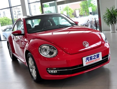 Volkswagen Beetle hits the China auto market