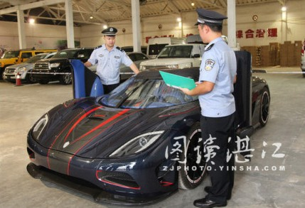 China customs offcials seize 'smuggled' one-off Koenigsegg Agera R BLT