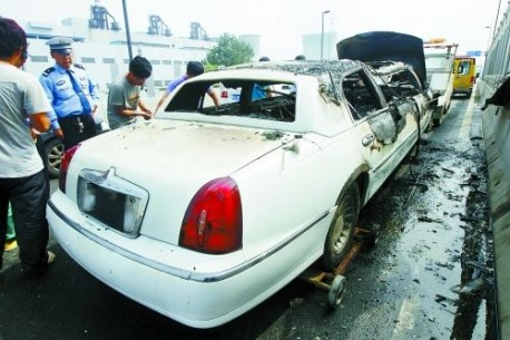 Wedding Car on Fire in China