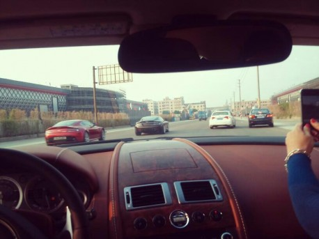Double Aston Martin DB9 plus Vantage in China