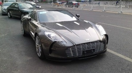 Aston Martin One-77 is Brown in China