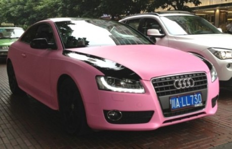 Audi A5 is Pink in China