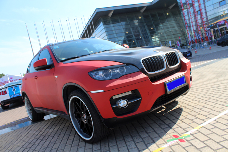 Bmw X6 Is Matte Red In China Carnewschina Com