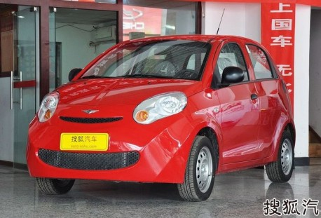 Spy Shots: facelift for the Chery Riich M1 in China