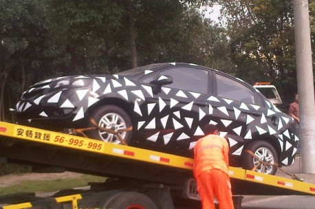 Spy Shots: facelift for the Chevrolet Sail sedan in China