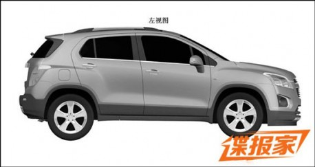 Patent Applied: Chevrolet Trax to come to China (?)