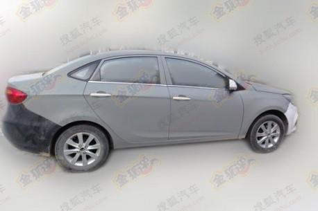 Spy Shots: JAC BII sedan testing in China