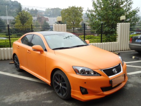 Lexus IS250 is Orange in China