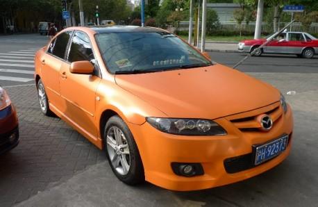 Mazda 6 is matte orange in China