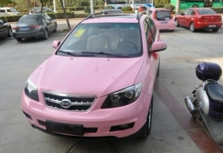 BYD S6 is Pink in China