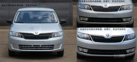 Spy Shots: Skoda Rapid is Naked in China