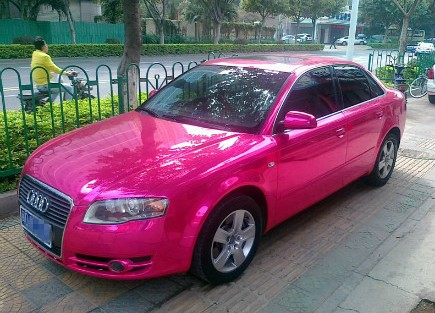 Audi A4 is Pink in China