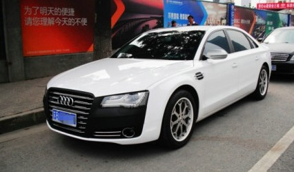 Audi A8L is black & white in China
