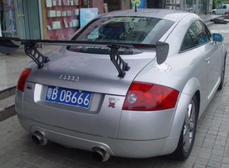 Audi TT has a Big Wing in China