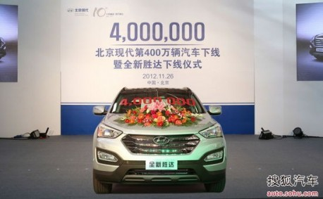 Party Time! 4 million Beijing-Hyundai cars made in China