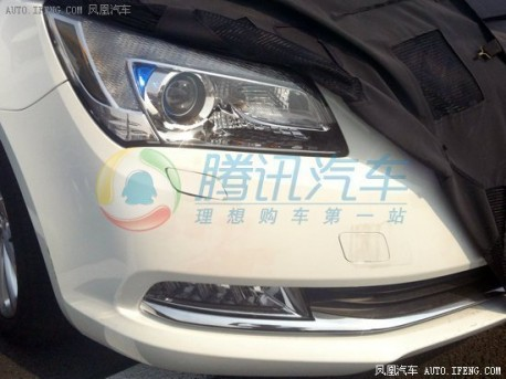 Spy Shots: facelifted Buick Lacrosse losing some camo in China