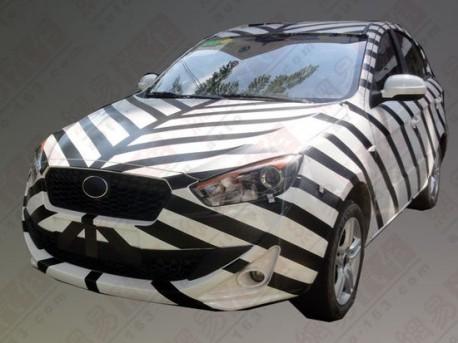 Spy Shots: FAW Oley hatchback seen testing in China again