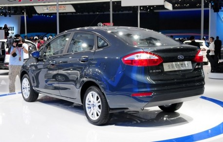 Facelifted Ford Fiesta sedan debuts on the Guangzhou Auto Show
