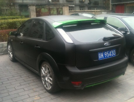 Ford Focus is matte black in China
