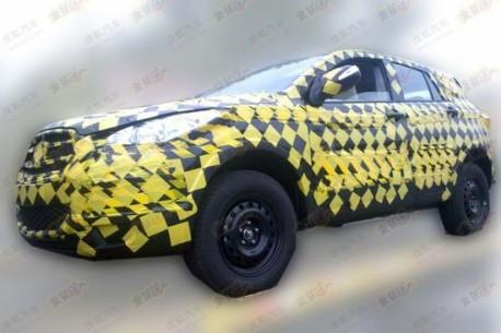 Spy Shots: Haima C2 SUV seen testing in China