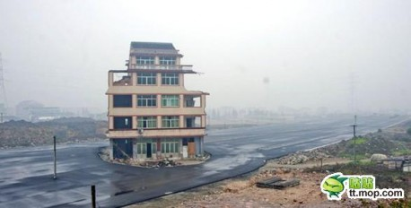 Road goes Around the House in China