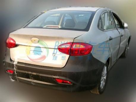 Spy Shots: JAC BII sedan seen testing in China
